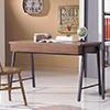 戈梅爾4尺胡桃雙抽書桌簡約造型帶出亮麗質感,打造完美的居家生活空間