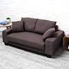 簡約和風雙人沙發澎澎感的坐墊設計久坐也舒適讓視覺感到柔和可愛的一款單品