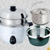 ◆可拆式內鍋◆304不鏽鋼內鍋◆可用鋼刷清洗◆內鍋瓦斯爐直接加熱也沒問題