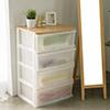 整理箱 收納櫃 抽屜櫃★木天板加寬設計更營造出溫暖的氛圍★居家必備衣物收納箱