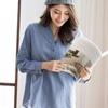 仿單寧的高含棉面料舒適又透氣,給肌膚溫柔的觸感