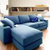 日式繽紛舒適三人+凳沙發組麻布面材質全拆洗設計. 以鮮明色系為基底讓視覺感到亮眼的一款單品