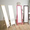 美背式鏡背繽紛邊框嚴選高級松木仰角角度全身鏡面免組裝輕鬆收納