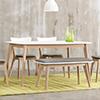 白色X白橡極簡餐桌,時尚簡約的風格,打造日式或北歐居家都很適合。