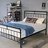 復古鐵架造型,床底可收納物品,排骨架床板,高機設計。