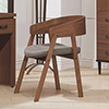 沉穩大方的胡桃色書椅日式簡約造型好搭配打造品味舒適的居家風格