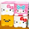 凱蒂貓 美樂蒂 蛋黃哥  桌上型 方塊收納盒  飾品盒  置物盒可放置小物、化妝品、個人雜物等