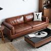 ●日式復古風三人沙發●扶手設計讓坐位多變換●質感皮面設計好感度UP●簡約造型任何居家都好搭配