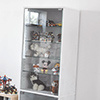 公仔收藏 酒櫃 北歐★全高180cm讓您的收藏品完美呈現★採用5mm玻璃,物品收納更穩固