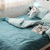 布料為100%純棉布料經緯為128X68布種40織紗,品質優良純棉越洗觸感越佳不易起毛球