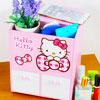 KITTY桌上型格紋4抽1拉收納盒 可放置小物、化妝品、個人雜物等