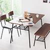 餐桌椅 桌椅 ★簡約設計營造無印風格 ★椅板厚度17mm ★簡單用布擦拭即好清理