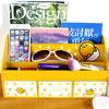 蛋黃哥 正版 多功能 三抽屜 收納盒 化妝盒 化妝櫃 飾盒 飾品盒可放置小物、化妝品、個人雜物等