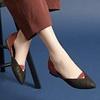 撞色 x 拼接經典尖頭鞋楦設計一字v口鏤空 微露性感