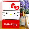 凱蒂貓  桌上型 三層收納盒  置物盒可放置小物、化妝品、個人雜物等
