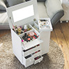 化妝台 收納櫃 飾品盒★日本熱銷系列款商品 ★邊桌款式不佔空間★又可完整的收納常用用品