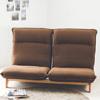 ★無段式傾躺設計★精致車縫設計★6段階極厚頭枕★高級沙發椅墊★矮實木底角