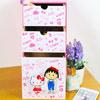 凱蒂貓 小丸子 桌上型 直式 橫式 三抽屜收納盒 情人節 現貨 禮物可放置小物、化妝品、個人雜物等