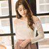 ◆ 珍珠、蕾絲浪漫結合絕美優雅,胸前網紗透膚設計性感迷人。