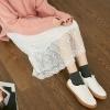 VOL744日韓系實穿搭配單品舒適棉質拼接透視蕾絲打造女孩自信俏麗風格