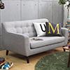 日本原裝品牌沙發簡約風格圓弧設計厚實的座椅及扶手超寬坐面雙人沙發