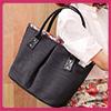 質感極佳的防潑布面大小適中的隨行手提包製作獨特可愛的星型包款