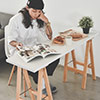 餐桌 電腦桌 簡易★A型萬用工作桌★置牆面角落也不佔空間★小空間大利用多用途好方便