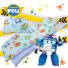 卡通 磨毛 警車波力 救援小英雄 機器人 Poli 歡樂世界 鋪棉 含內胎 枕心