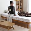 來自大自然天然實心松木,導角導圓設計,防止碰撞,床腳附毛氈,可防刮,床底可配合收納箱的使用做床底收納