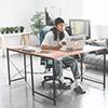 L型設計讓工作空間更可以充分利用搭配滾輪電腦椅移動更便利二邊方向都可以組裝