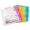 無毒環保材質,PP可回收多增一個內頁袋,分類更容易色彩鮮豔,分類容易共有六色可選銷售單位:本