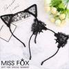 髮帶 貓耳 蕾絲性感可愛氣質,貓耳設計,性感蕾絲。