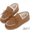 高成本真麂皮面料打造鞋身豐厚絨毛內裡保暖舒適度100%Line ID請搜尋:@annsshop