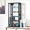 公仔收藏 酒櫃 北歐★加厚5cm玻璃層板,結構穩固★內部排孔可調整玻璃層板高度