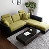 ●日式機能多件組L型沙發●布面X皮面設計讓整體更有層次●簡約造型任何居家都好搭配