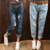 柯能 現貨+預購 經典設計個性潮流牛仔褲可搭配牛仔外套 大學T 懶人鞋