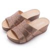 特殊布面燙鑽鞋面時尚優雅鞋面加泡棉舒適度極佳前高後高設計增加平穩度尺寸正常,選購請確認尺寸資訊
