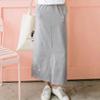 長度及踝的純色窄裙,營造魅力獨特的簡約穿搭