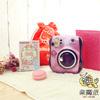 此頁面販售的是平行輸入富士MINI25夢幻紫Kitty 拍立得相機情人限定套餐。