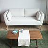 日本原裝品牌沙發北歐小清新風格,極簡的設計適合小坪數配置自然橡木色腳