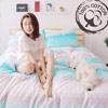 ‧100%純棉210織‧布品柔順、細緻‧新式活性印染‧頂級專櫃車工‧全程台灣精製雙人四件組
