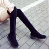 秋冬歐美過膝靴女彈力高筒靴顯瘦低跟長靴騎士靴女靴子潮