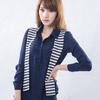 ◆ 商品貨號:Y15001-58◆ 假兩件式條紋披肩雪紡設計,時尚感十足