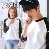 《BESTshop》現貨+預購 GILDAN 美國棉接色棒球風七分袖上衣76700型-新品