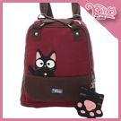 小黑貓兩用包/肩背/後背/輕旅行包