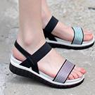 韓國連線條紋涼鞋