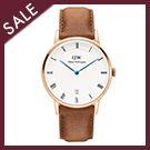 淺棕真皮皮革錶