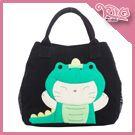 恐龍貓 兩用包/手提/斜背包/水桶包