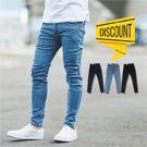 韓國製素面彈性窄管牛仔褲