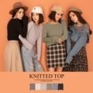 限量現貨◆PUFII-針織上衣 圓弧下擺坑條長袖針織衣-10